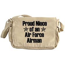 Proud Niece of AF Airman Messenger Bag