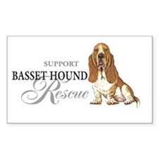 Basset Hound Rescue Oval Decal