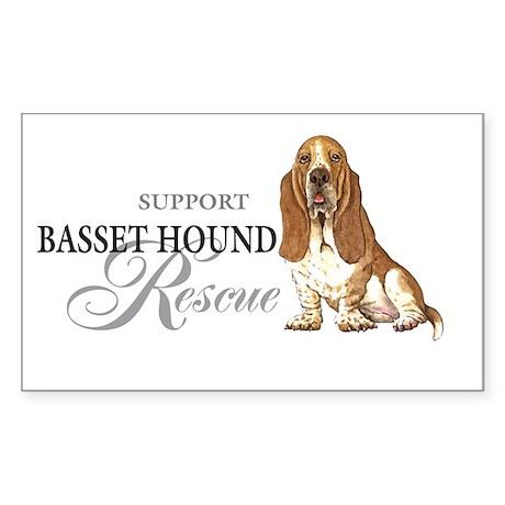 Basset Hound Rescue Oval Sticker