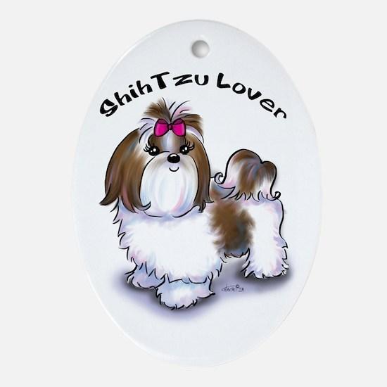 Shih Tzu lover Ornament (Oval)