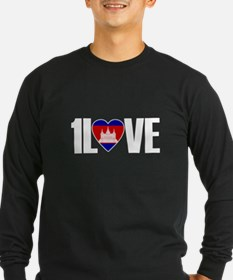 1LOVE CAMBODIA Long Sleeve T-Shirt