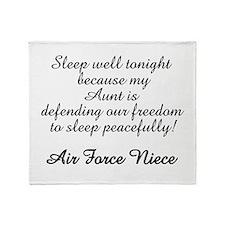 AF Niece Sleep Well Aunt Throw Blanket