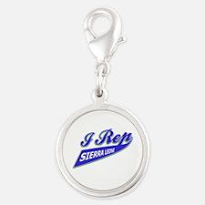 I rep Sierra Leone Silver Round Charm
