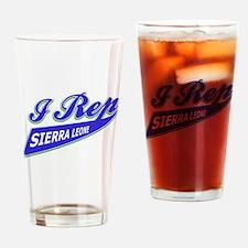 I rep Sierra Leone Drinking Glass