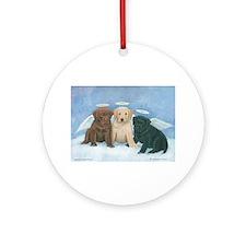 Angel Labbies Ornament (Round)
