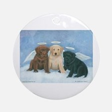 Angel Labbies Ornament (Round)