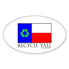 Recycle Ya'll Oval Decal