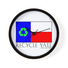 Recycle Ya'll Wall Clock