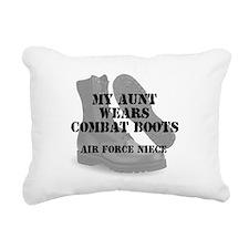 AF Niece Aunt wears CB Rectangular Canvas Pillow
