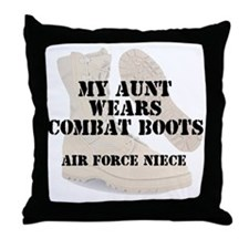AF Niece Aunt wears DCB Throw Pillow