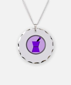 pest and mort purple Necklace