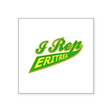 """I rep Eritrea Square Sticker 3"""" x 3"""""""