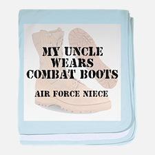 AF Niece Uncle wears DCB baby blanket