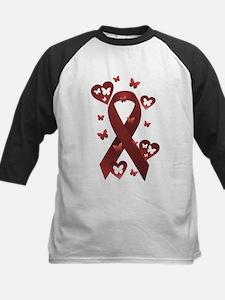 Red Awareness Ribbon Kids Baseball Jersey