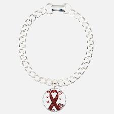 Red Awareness Ribbon Bracelet