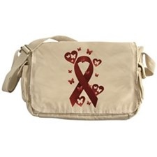 Red Awareness Ribbon Messenger Bag