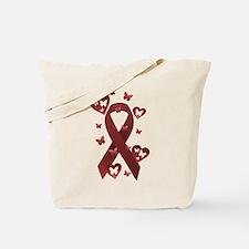 Red Awareness Ribbon Tote Bag