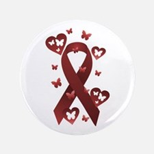 """Red Awareness Ribbon 3.5"""" Button (100 pack)"""