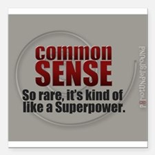 """Superpower Square Car Magnet 3"""" x 3"""""""