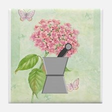 pest and mort hydrangea 2 Tile Coaster