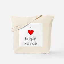 I Love Belgian Malinois Tote Bag