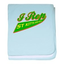 I rep Saint Kitts baby blanket