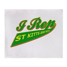 I rep Saint Kitts Throw Blanket