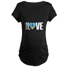 1LOVE ST.LUCIA Maternity T-Shirt