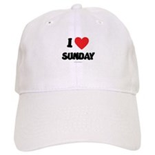 I Love Sunday Baseball Baseball Cap