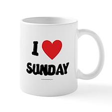 I Love Sunday Mug
