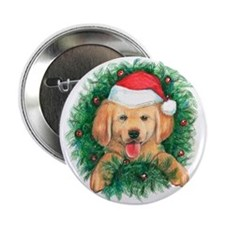 Puppy in a Wreath Button