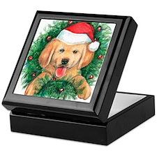 Puppy in a Wreath Keepsake Box