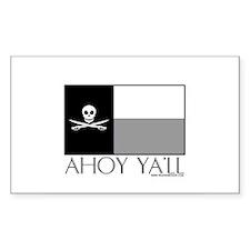 Ahoy Ya'll Rectangle Decal