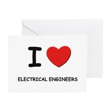 I love electrical engineers Greeting Cards (Packag