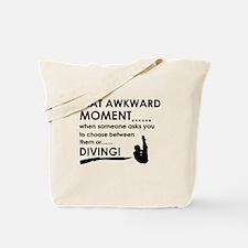 Diving sports designs Tote Bag