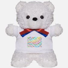 Pastel Bubbles Teddy Bear