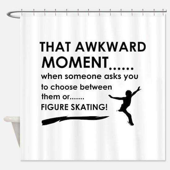 Figure Skating sports designs Shower Curtain