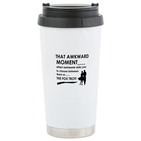 Fox Trot sports designs Stainless Steel Travel Mug