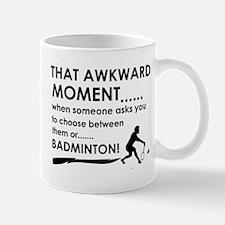 Badminton sports designs Mug