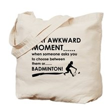 Badminton sports designs Tote Bag