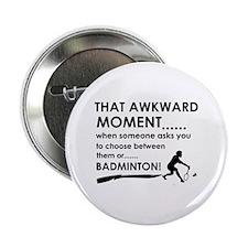 "Badminton sports designs 2.25"" Button"