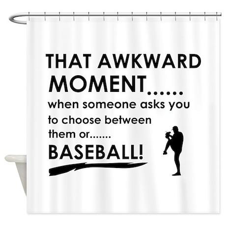 Baseball Sports Designs Shower Curtain By Megateezdezines