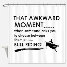 Bull Riding sports designs Shower Curtain