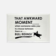 Bull Riding sports designs Rectangle Magnet