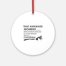 Capoeira sports designs Ornament (Round)