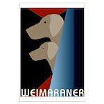 Weimaraner Bauhaus Geo Large Poster
