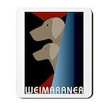 Weimaraner Bauhaus Geo Mousepad