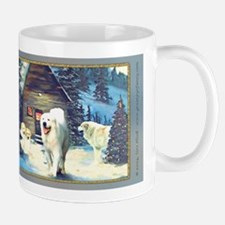 Great Pyrenees Christmas Mug, WinterCottage
