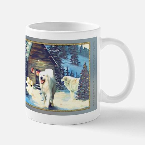 Great Pyrenees Christmas Mug, WinterCottage