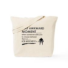 Ice Hockey sports designs Tote Bag